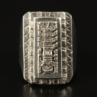 Sterling Silver Pre-Columbian Inspired Ring