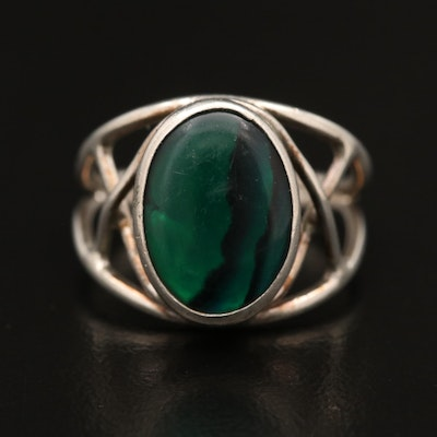Sterling Silver Dichroic Resin Ring