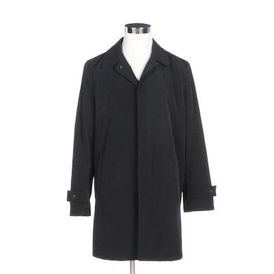 Men's Hart Schaffner Marx Raincoat with Removable Wool Blend Liner