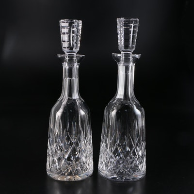 "Waterford Crystal ""Lismore"" Wine Decanters and Stoppers"