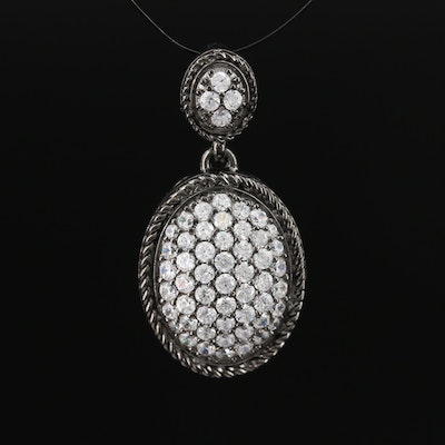 Sterling Cubic Zirconia Pendant