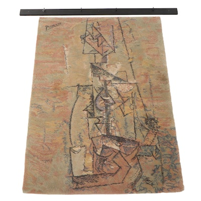 "4'7 x 6'7 Ege Art Line Area Rug after Pablo Picasso ""Woman with Guitar"","