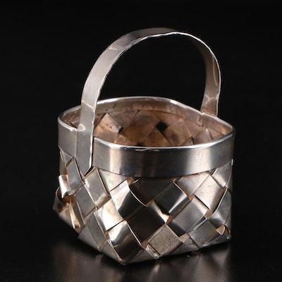 Cartier Handmade Sterling Silver Miniature Basket