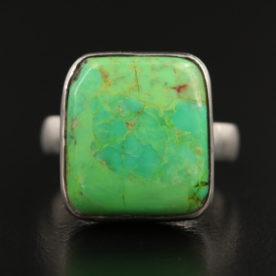 Sterling Silver Gaspeite Ring