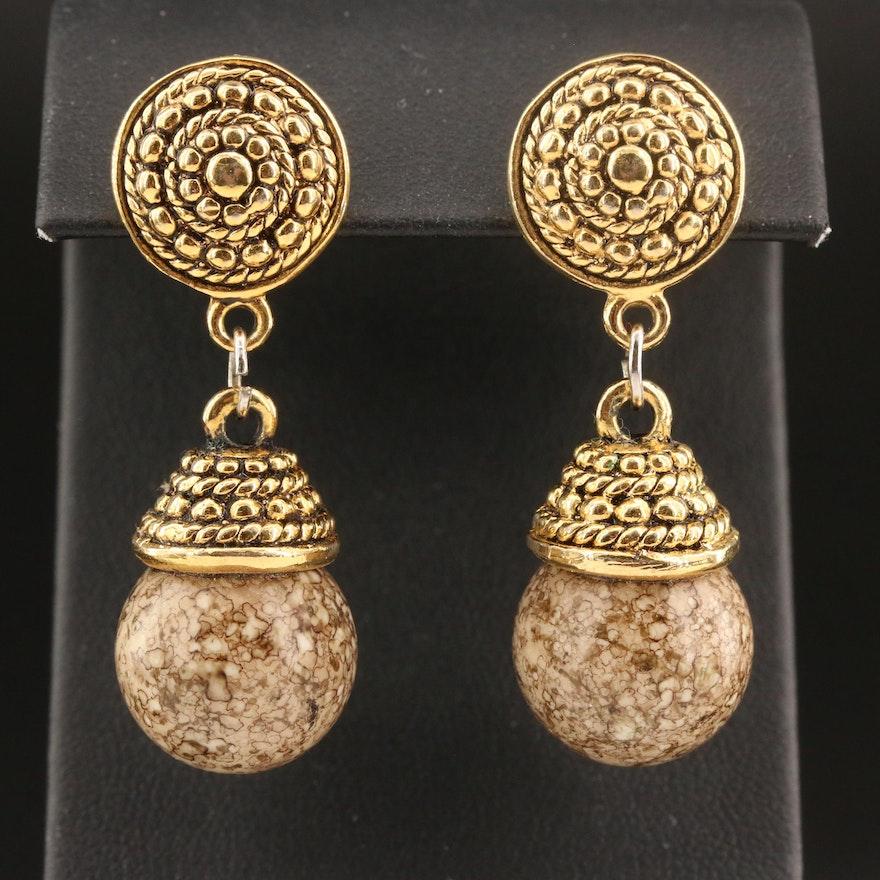 Glass Beaded Drop Earrings