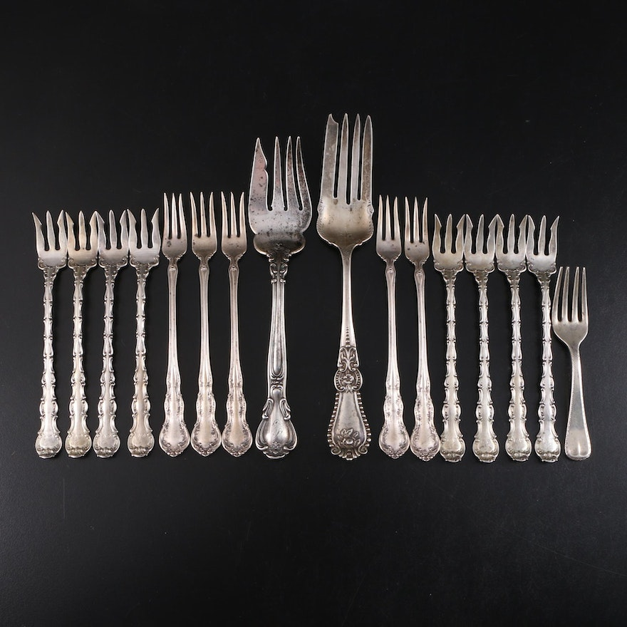 "Gorham ""Chantilly"" with Other Sterling Silver Serving Forks"