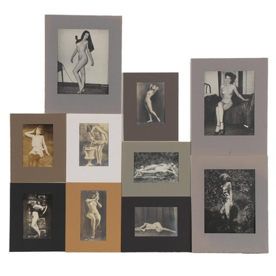 Silver Gelatin Photographs of Female Nudes, Early 20th Century