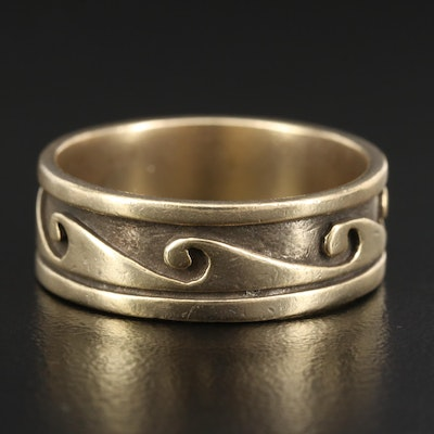 Sterling Silver Wave Pattern Band