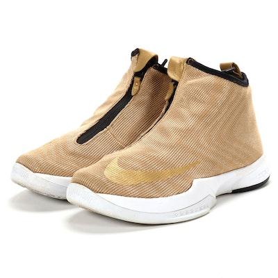 Nike Zoom Kobe Icon Metallic Gold High Top Sneakers