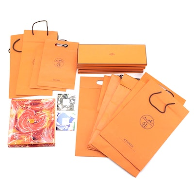 Hermès Retail Bags, Boxes and Scarf Collection Booklets