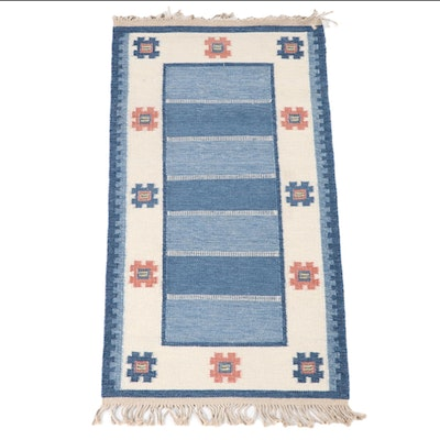 2'9 x 5'7 Handwoven Scandinavian Swedish Rollakan Wool Area Rug