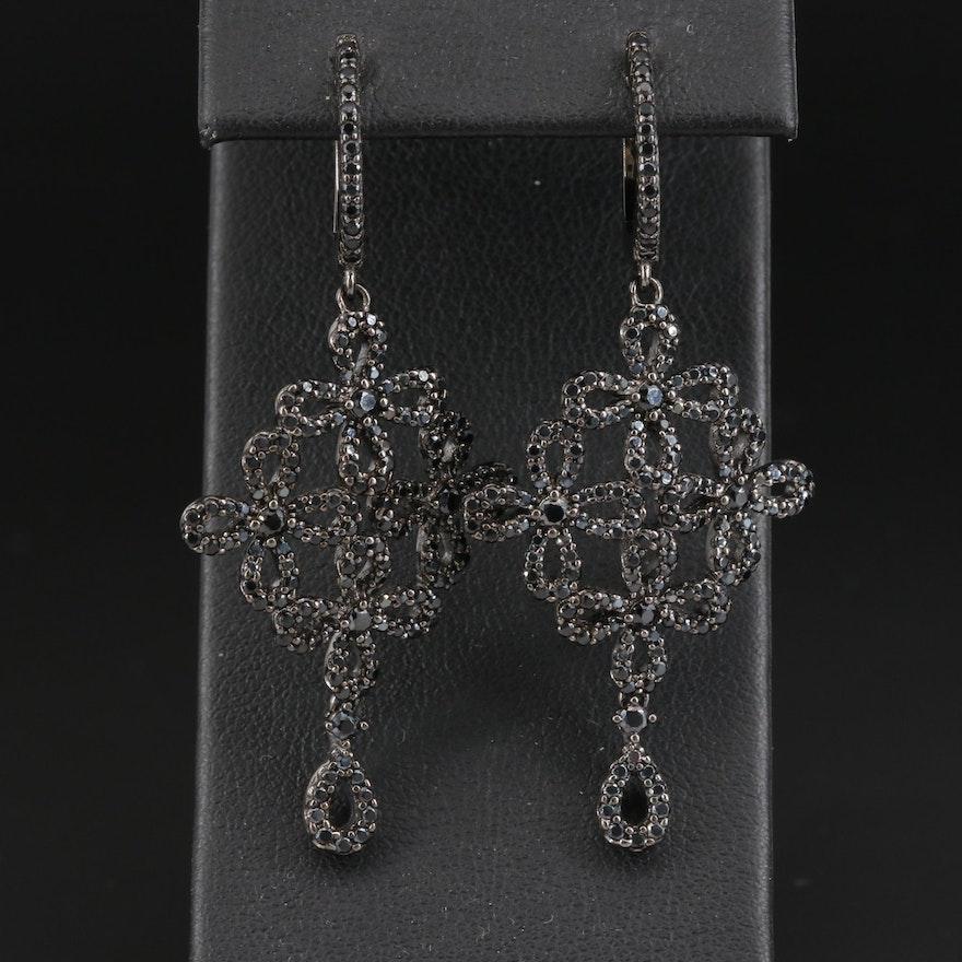 Sterling Silver Spinel Dangle Earrings