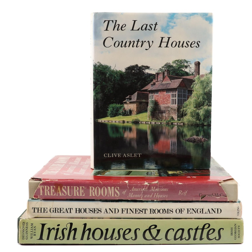 """Signed """"Irish Houses and Castles"""" and More Architecture Reference Books"""