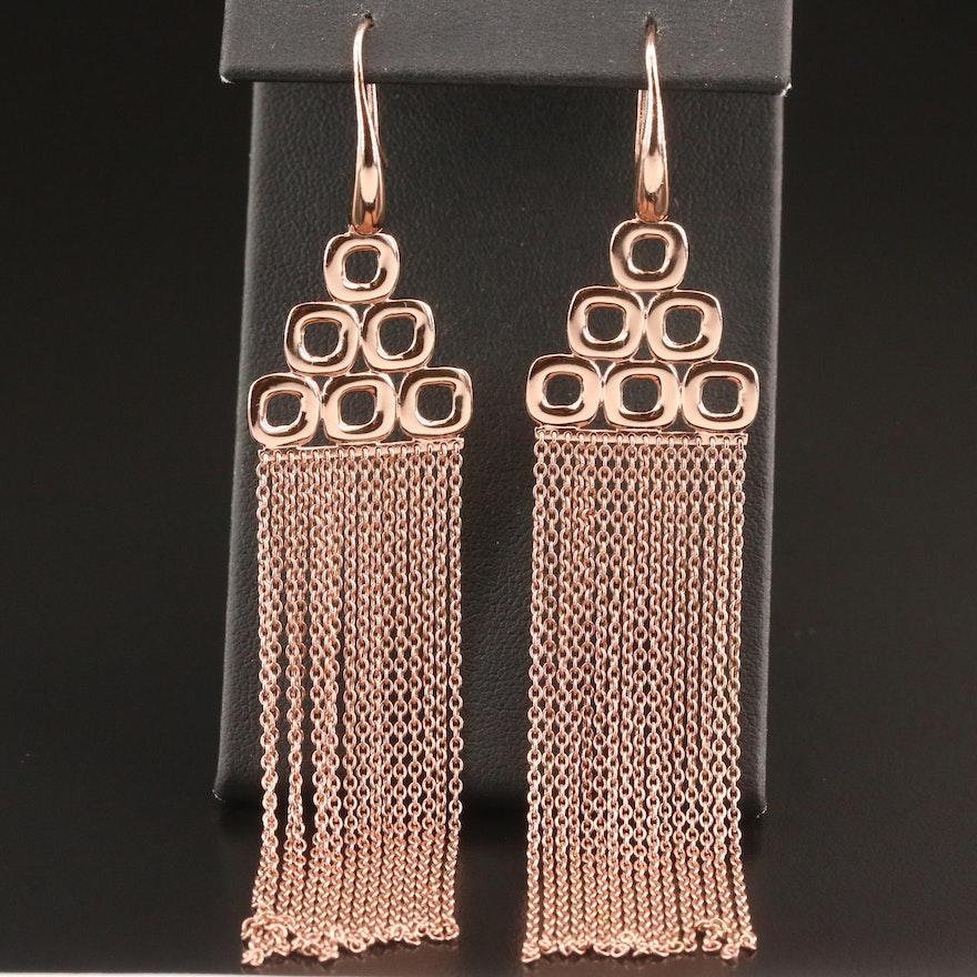 Ippolita Sterling Silver Geometric Fringe Earrings