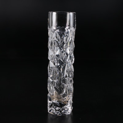 "Tiffany & Co. ""Rock Cut"" Crystal Bud Vase"