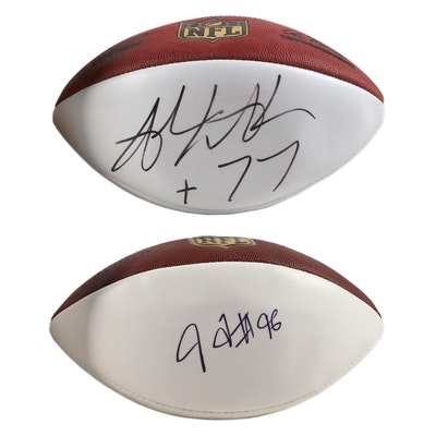 Andrew Whitworth, Carlos Dunlap Autographed Cincinnati Bengals Footballs