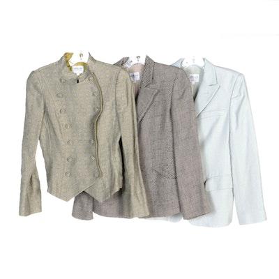 Giorgio Armani Collezioni Wool and Linen Blend Jackets