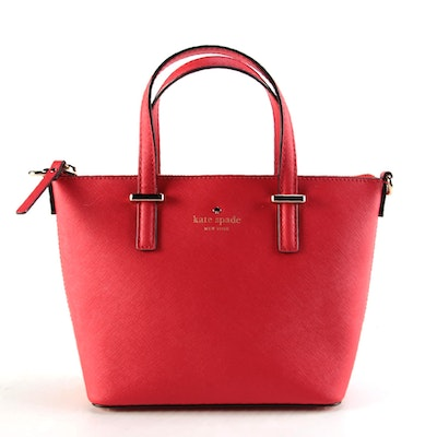 Kate Spade Cedar Street Red Saffiano Leather Two-Way Handbag