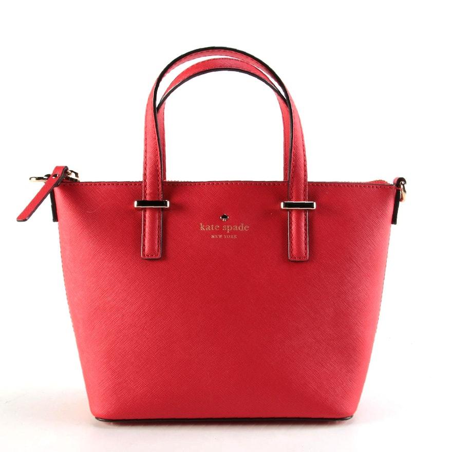 Kate Spade Cedar Street Red Saffiano Leather Two-Way Handbag