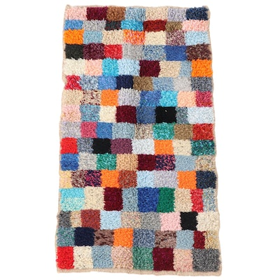 2'1 x 3'10 Hand-Knotted Moroccan Azilal Accent Rug