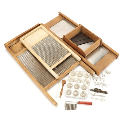 Primitive Gadgets Including Mandoline, Mini Cookie Cutters, Washboards and More