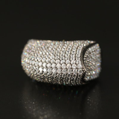 Sterling Cubic Zirconia Fin Ring