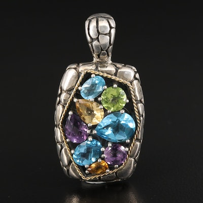 EFFY Sterling Silver Gemstone Enhancer Pendant with 18K Accent