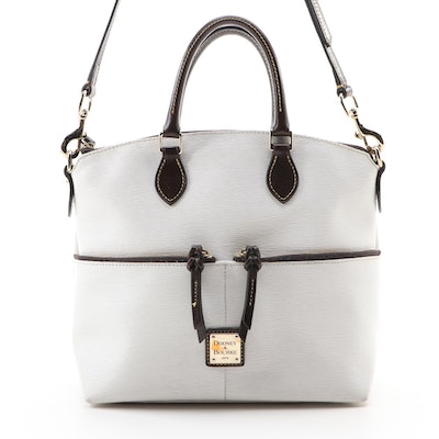 Dooney & Bourke Dillen Double Pocket Satchel in White Epi Leather