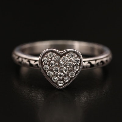 Brighton Rhinestone Heart Ring