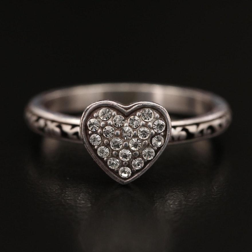 Brighton Rhinestone Heart Ring