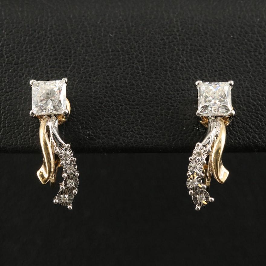 10K 1.94 CTW Diamond Earrings