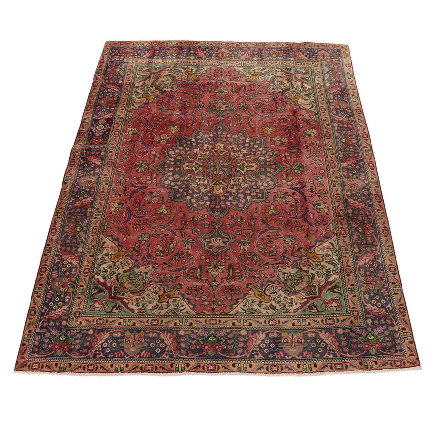 8'1 x 11'3 Hand-Knotted Persian Tabriz Room Size Rug