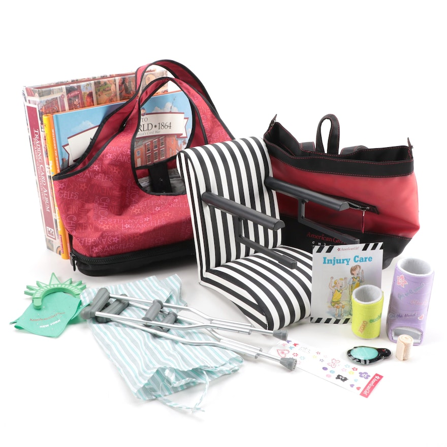American Girl Doll Accessories and Books Including Hospital Kit and Cookbook