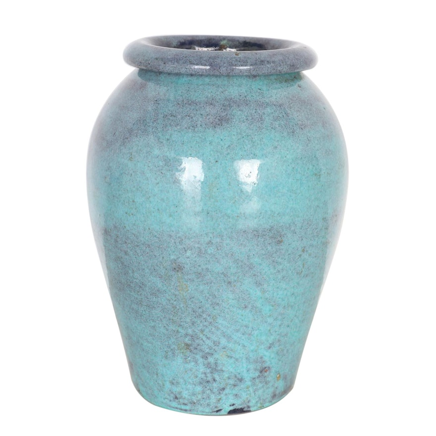 North State Pottery Hand-Thrown Earthenware Vase, Early to Mid 20th Century