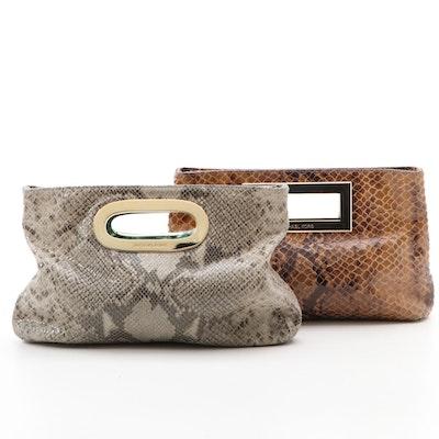 MICHAEL Michael Kors Berkley Bags in Snake Print Suede Leather