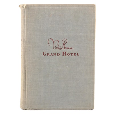 "Signed First Edition ""Grand Hotel"" by Vicki Baum, 1931"