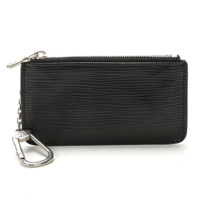 Louis Vuitton Pochette Cles in Black Epi Leather