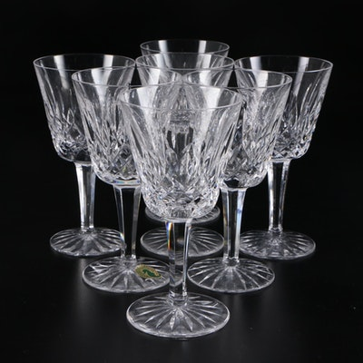 "Waterford ""Lismore"" Crystal Claret Wine Glasses"