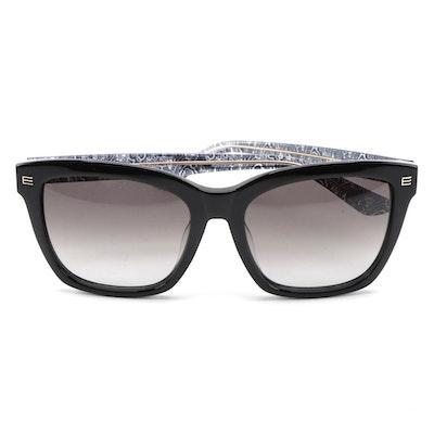 ETRO ET623S Black Acetate Frame Sunglasses with Gradient Lenses