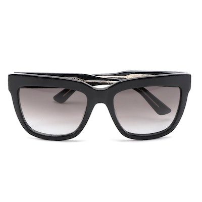 ETRO ET603S Black Acetate Square Frame with Gradient Lenses