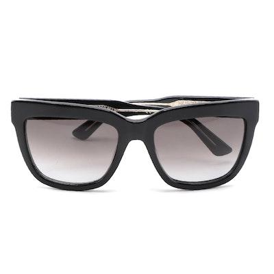 ETRO ET603S Black Acetate Square Frame with Gradient Lenses