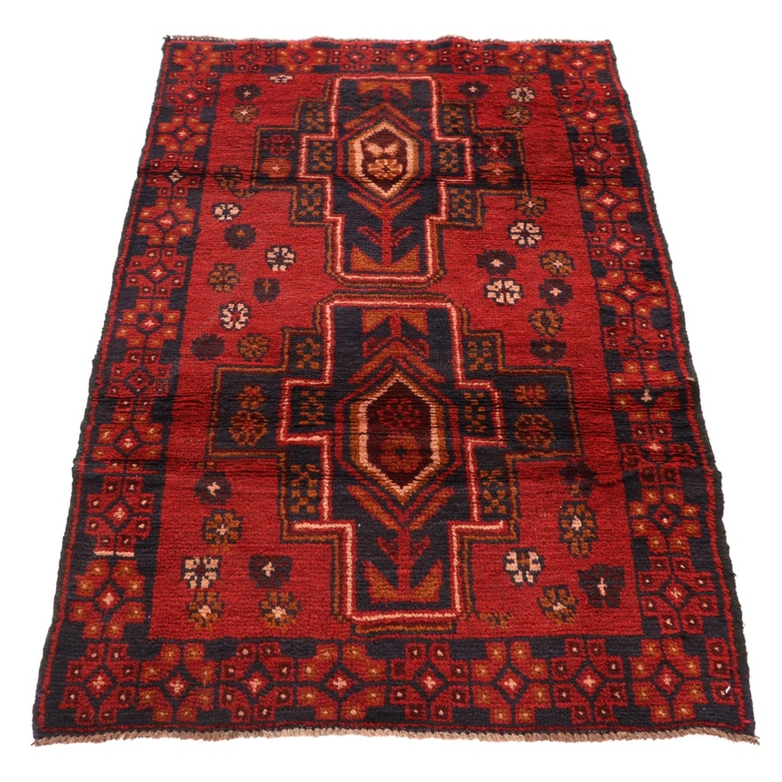2'10 x 4'8 Hand-Knotted Afghan Balouch Tribal Rug