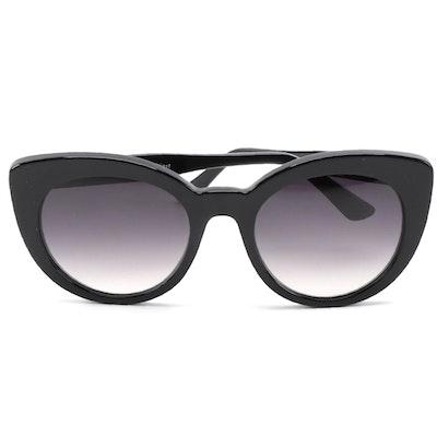 ETRO ET643S Black Acetate Modified Cat Eye Sunglasses