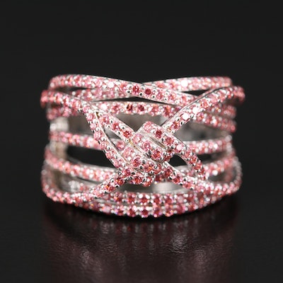 Sterling Silver Cubic Zirconia Dimensional Ring