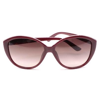 ETRO ET612SK Bordeaux Acetate Butterfly Frame Sunglasses
