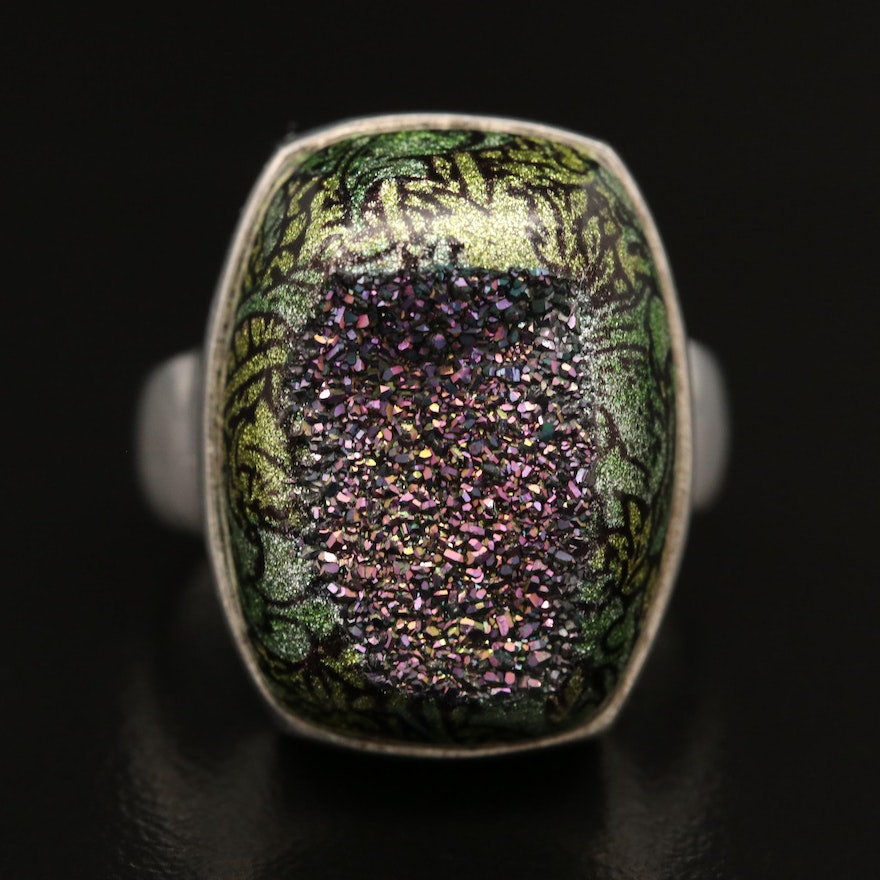 Sajen Sterling Silver Druzy Ring