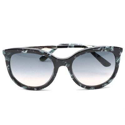 ETRO ET656S Marble Green Acetate and Silver-Tone Frame Sunglasses