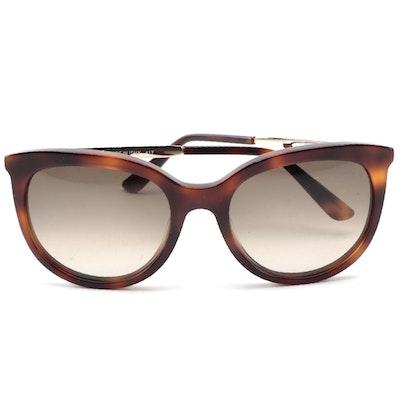 ETRO ET656S Havana Acetate and Silver Tone Frame Sunglasses
