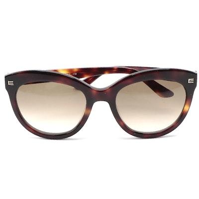 ETRO ET610S Dark Havana Acetate Frame Sunglasses with Gradient Lenses