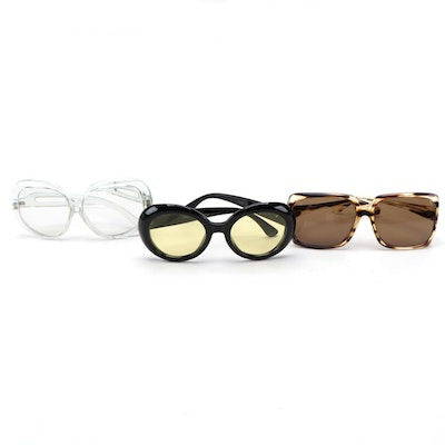 Foster Grant Clear Glasses with Renauld Faux Tortoiseshell and Round Sunglasses
